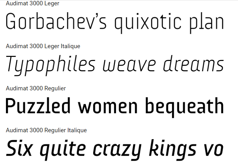 Download Audimat 3000 Fonts Free Available Here
