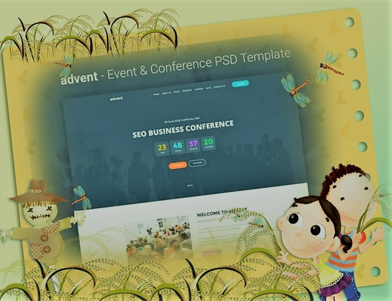 Download Events & Conference PSD Template Free