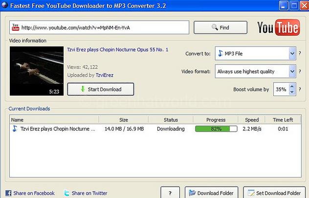 YouTube Downloader & mp3 converter SF