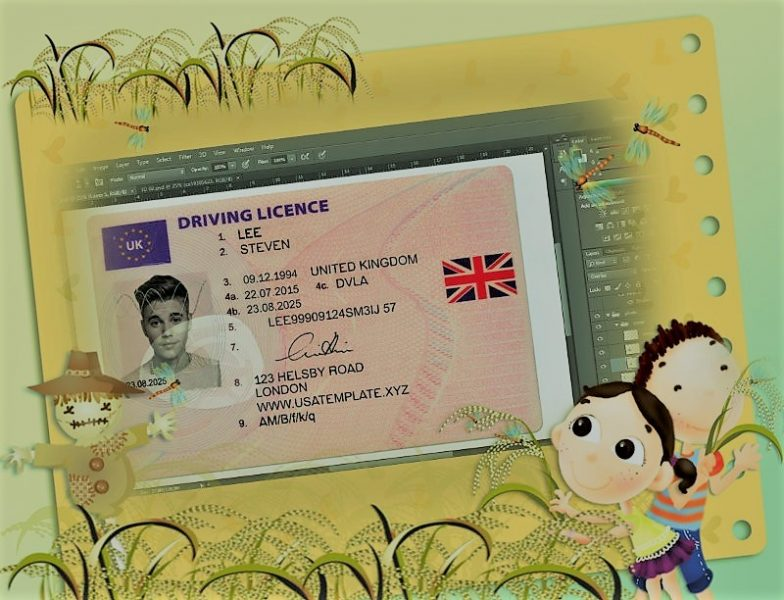 Download UK Driver License PSD Template Free