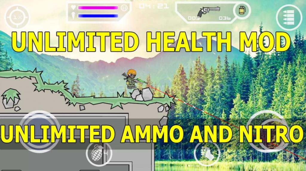 Download Mini Militia Unlimited Health & Ammo Nitro Pro Pack