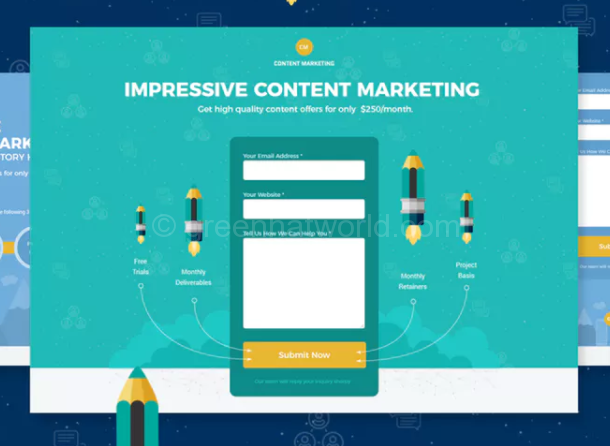 Content Marketing Landing Page[Download Free]