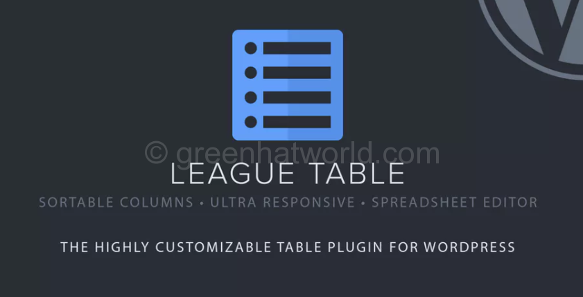League Table Wp PluginDownload Free