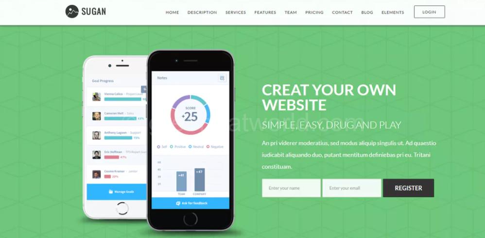 WordPress Theme For Software Website